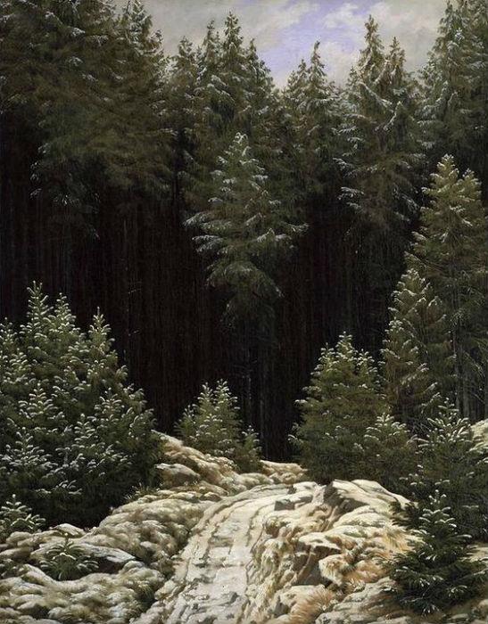 2 paintings where caspar david friedrich uses the ruckenfigur motif